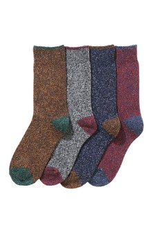 Socks With Wool And Silk Four Pack