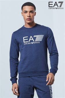Emporio Armani EA7 Blue Visibility Crew Sweat Top