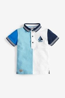 Short Sleeve Colourblock Polo (3mths-7yrs)