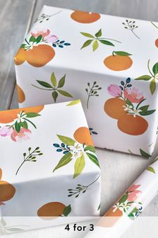 6M Floral Wrapping Paper