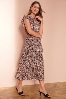 New Ladies Cat Walk Embroidery Sea Green Maxi Dress UK Size Small Medium /& Larg