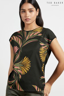 Ted Baker Pasley Deco Printed Woven Front T-Shirt