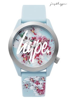 Hype. Blue Floral Watch