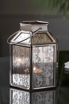 Small Mercury Glass Lantern