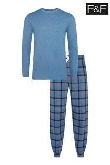 F&F Heritage Waffle Flannel Pyjama Set