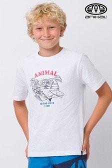 Animal White Chilling Graphic T-Shirt
