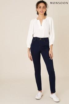Monsoon Blue Nadine Short Length Skinny Jeans
