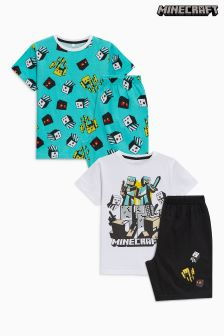Minecraft Pyjamas Two Pack (3-12yrs)