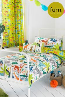 Little Furn Jungletastic Duvet Cover and Pillowcase Set by Furn