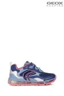 Geox Junior Girl's Android Navy/Fuchsia Shoes