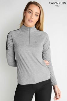 Calvin Klein Golf Kahn Zip Neck Polo