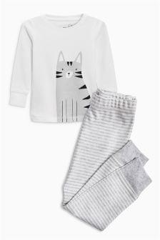Пижама облегающего кроя с котом (9 мес. - 6 лет)