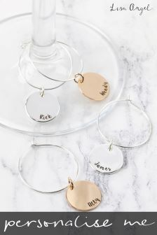 Personalised Set of Four Wine Charms by Lisa Angel