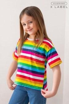 Mix/Hill & Friends Stripe T-Shirt