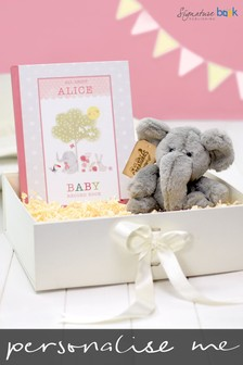 Personalised Baby Record Book And Plush Toy Gift Set by Signature Book Publishing