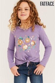 FatFace Pink 2 Way Sequin Flower Graphic T-Shirt