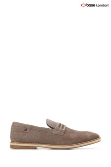Base London® Grey Kinsey Suede Slip-On Loafers