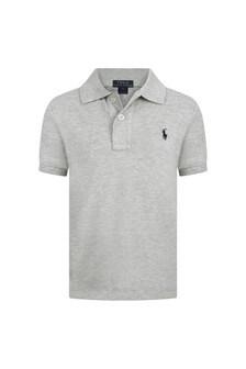 Boys Grey Classic Polo Top