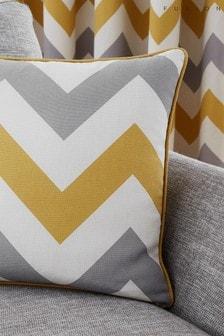 Fusion Yellow Chevron Cushion