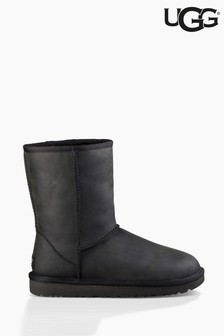UGG® Black Classic Short Leather Boots