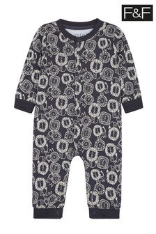 F&F Grey Lion Print All-In-One