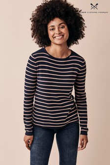 Crew Clothing Company Blue Harbour Stripe Jumper