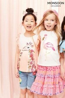 Monsoon Pink Sequin Flamingo T-Shirt