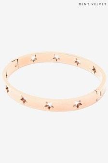 Mint Velvet Rose Gold Tone Bangle Bracelet