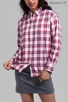 GANT Red Flannel Check Oversized Shirt