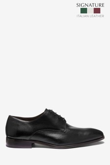 Signature Textured Derby Shoes
