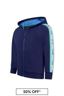 Marc Jacobs Boys Blue Cotton Sweat Top