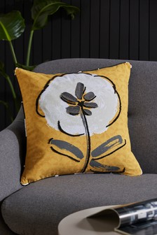 Retro Crafted Floral Cushion