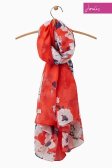 Joules Red Wensley Scarf
