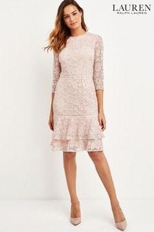 Lauren Ralph Lauren® Blush Pink Lace Halima Dress