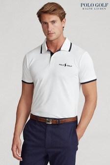 Polo Golf by Ralph Lauren White Logo Poloshirt