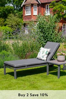 Milano Sunlounger And Cushion By LG Outdoor