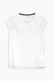 Broderie Sleeve T-Shirt