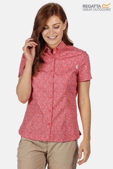 Regatta Red Womens Honshu IV Short Sleeve Shirt
