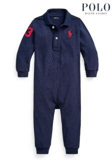 Ralph Lauren Navy Logo Babygrow