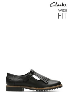 Clarks Black Leather Griffin Mia Shoes