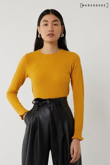 Warehouse Yellow Spring Bud Stitch Jumper