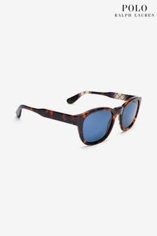 Солнцезащитные очки в черепаховой оправе Polo Ralph Lauren Antique