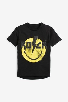 Rock Smiley T-Shirt (3-16yrs)