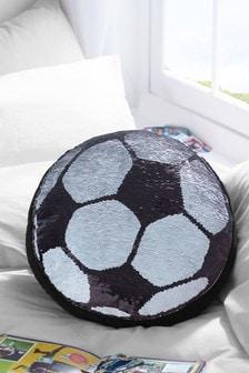 Sequin Swoosh Football Cushion