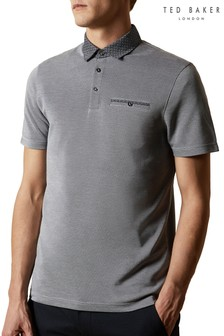 Ted Baker Jetoff Woven Collar Soft Touch Polo