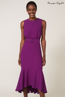 Phase Eight Purple Karli Belted Dress