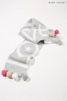Mint Velvet Grey Knitted Love Scarf