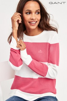 GANT Cotton Pique Block Stripe Jumper