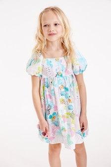 Puff Sleeve Dress (3-16yrs)