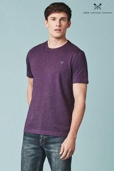 Crew Clothing Klassisches T-Shirt mit Rundhalsausschnitt in Violett
